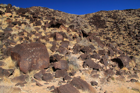 anasazi: Native American Rock Art along the Rinconada Trail in Petroglyph National Monument, New Mexico
