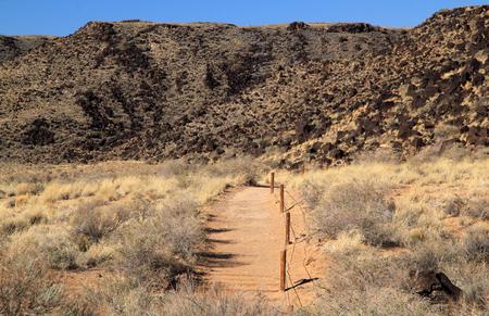 anasazi: Rinconada Trail in Petroglyph National Monument, New Mexico
