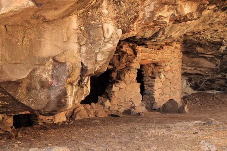 anasazi: Ancient Mogollon Ruins at Gila Cliff Dwellings National Monument in the Gila Wilderness, New Mexico