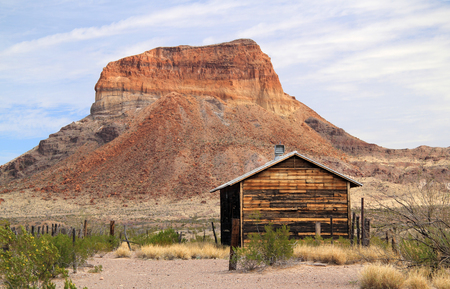 Historic Building in the Costolon Section of Big Bend National Park, Texas Stock Photo