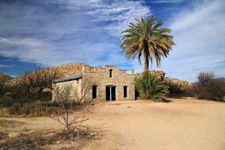 Historic Hot Springs Post Office, Big Bend National Park, Texas Stock Photo