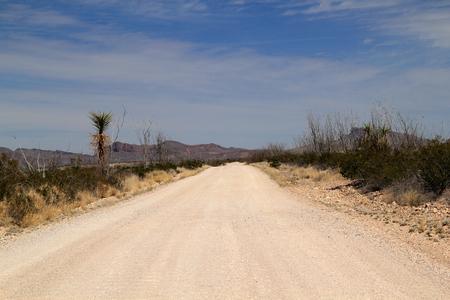 古いマーベリック道路、ビッグ ・ ベンド国立公園、テキサス州