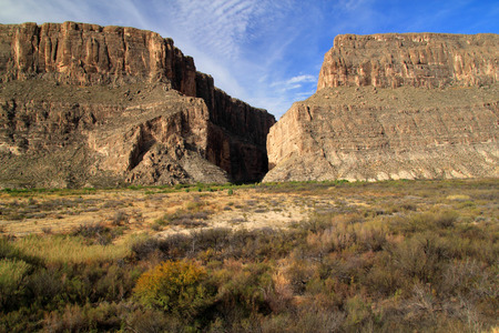Santa Elena Canyon Entrance, Big Bend National Park, Texas Stock Photo