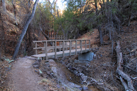 Cliff Dwellings Trail at Gila Cliff Dwellings National Monument in the Gila National Forest, New Mexico