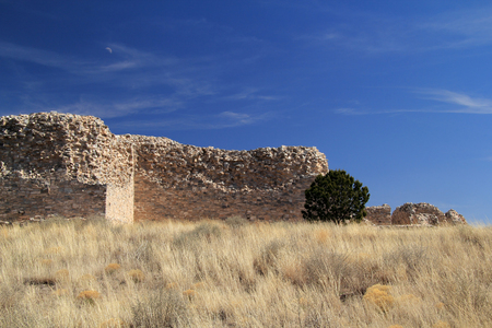 pueblo: Gran Quivira Ruins at Salinas National Monument in the State of New Mexico