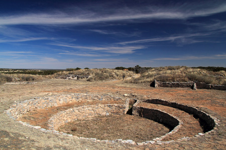 Gran Quivira Ruins at Salinas National Monument in the State of New Mexico