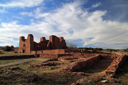 Quarai Ruins at Salinas National Monument in the State of New Mexico