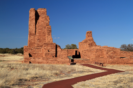 pueblo: Abo Ruins at Salinas National Monument in the State of New Mexico
