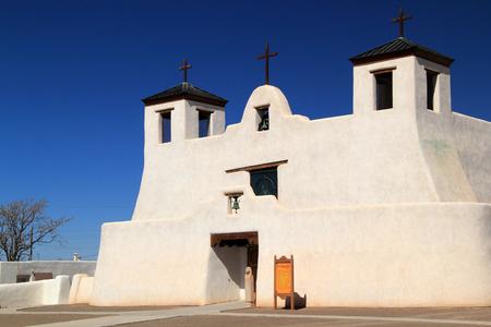 Historic Mission San Agustin de Isleta, Isleta Pueblo, New Mexico Stock Photo