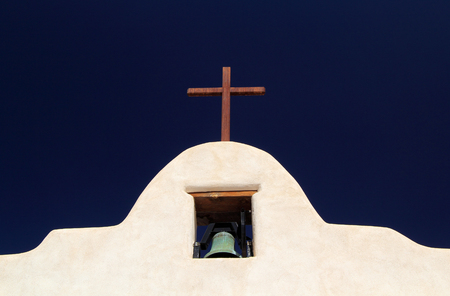Historic Mission San Agustin de Isleta, Isleta Pueblo, New Mexico Stock Photo