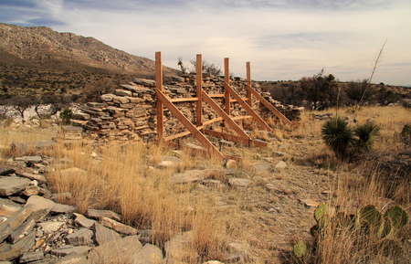 Historic Pinery Station Ruins at Guadalupe Mountains National Park, Texas