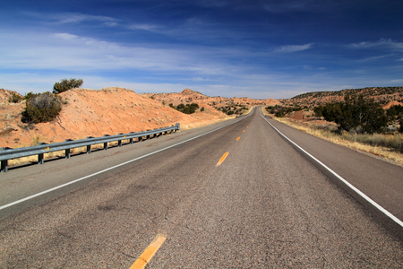 High Road to Taos in Northern New Mexico Stock Photo