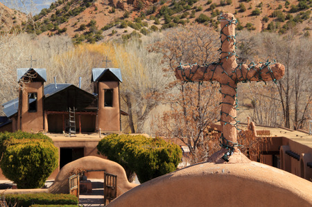 El Santuario de Chimayo along the High Road to Taos in Northern New Mexico