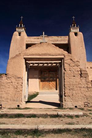San Jose de Gracia Catholic Church in Las Trampas along the High Road to Taos in Northern New Mexico