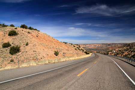 The scenic and historic High Road to Taos in Northern New Mexico