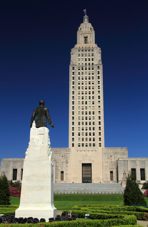 Louisiana State Capitol Building and Huey Long Memorial in the city of Baton Rouge