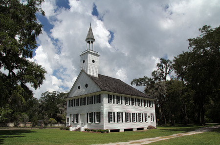 Historic Midway Congregational Church, prominent during the American Revolution, in the small town of Midway in the state of Georgia