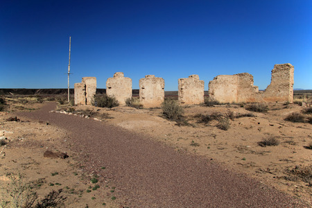 Southwest, New Mexico, Fort Craig Commanding Officers Quarters Ruins