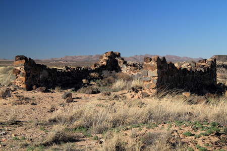 Southwest, New Mexico, Fort Craig Guard House Ruins Stock Photo