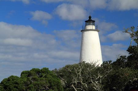 Historic Ocracoke Light on Ocracoke Island, Cape Hatteras National Seashore, North Carolina