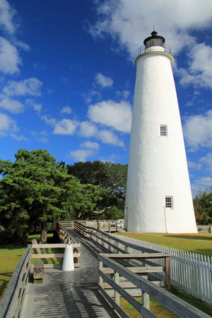 hatteras: Historic Ocracoke Light on Ocracoke Island, Cape Hatteras National Seashore, North Carolina