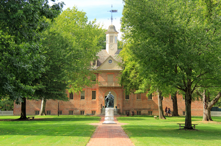 Established in the seventeenth century, the College of William and Mary is one of the oldest and most prestigious of U.S. colleges October 6, 2017 in Williamsburg, VA Editorial