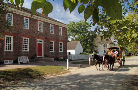 Built in the 1750s, the Wythe Home was the home of George Wythe, signer of the Declaration of Independence and notable American jurist October 6, 2017 in Williamsburg, VA