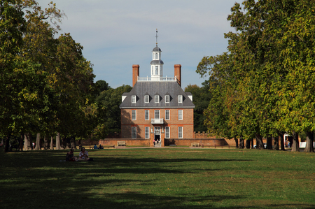 The Governor�s Palace, rebuilt in the 1930s, served as the official residence of the Royal Governors of the Colony of Virginia October 6, 2017 in Williamsburg, VA