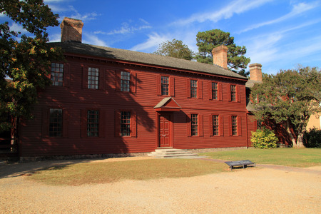 The Peyton Randolph Home is one of the oldest and most historic of Colonial Williamsburg's original eighteenth century homes October 6, 2017 in Williamsburg, VA