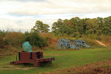 Grand French Battery, Yorktown Battlefield, Colonial National Historical Park, Virginia Stock Photo
