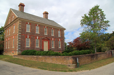 The Nelson House was the home of Thomas Nelson, Jr., Yorktowns most notable son and a signer of the Declaration of Independence October 7, 2017 in Yorktown, VA