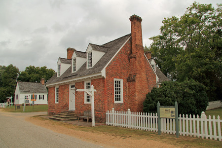 This restored colonial residence was built by Mungo Somerwell and was once a part of the Lightfoot family holdings October 7, 2017 in Yorktown, VA Editorial