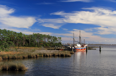 The Elizabeth II replica is one of the main attractions at the Roanoke Island Festival Park in Manteo, North Carolina