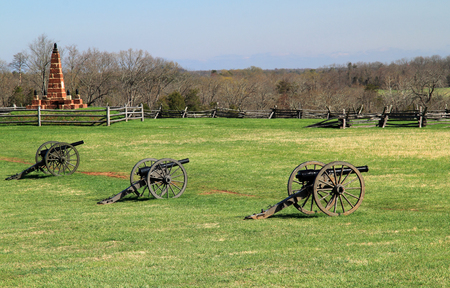 Site of two Confederate victories during the American Civil War, Henry House Hill is now part of Manassas National Battlefield Park in the state of Virginia Editorial