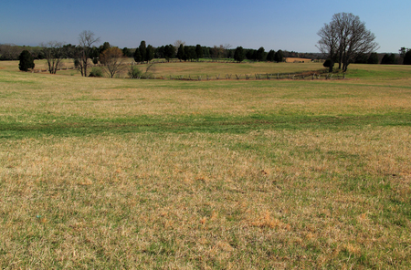 Manassas Battlefield National Park protects the site of and interprets two crucial military engagements during the American Civil War 写真素材