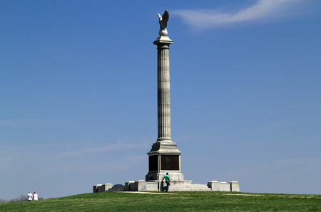 The New York State Monument honors the thousands of men who bravely fought at the Battle of Antietam during the American Civil War April 14, 2018 in Sharpsburg, MD