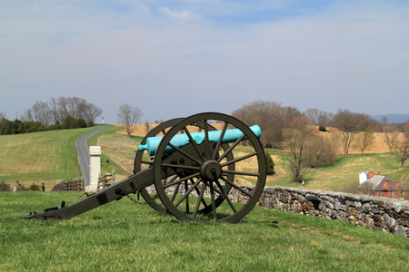 Artillery played a key role in many military engagements of the Civil War, including the Battle of Antietam, fought on September 17, 1862 April 14, 2018 in Sharpsburg, MD Stock fotó