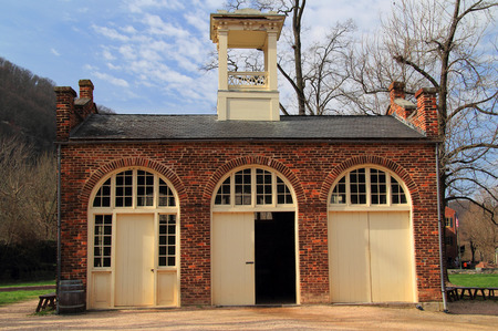 John Brown's Fort was once part of the U.S. Armory that was located at Harpers Ferry, West Virginia, and would later become famous for its association with a failed slave revolt prior to the Civil War Banco de Imagens