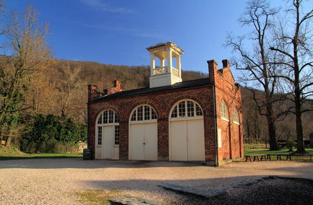 John Brown's Fort was once part of the U.S. Armory that was located at Harpers Ferry, West Virginia, and would later become famous for its association with a failed slave revolt prior to the Civil War Foto de archivo