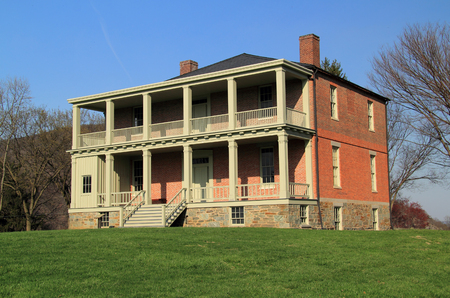 The Lockwood House, built in 1848, served numerous purposes during the American Civil War and later became a school for former slaves April 4, 2018 in Harpers Ferry, WV