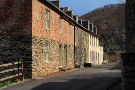 Public Way consists of several historic structures, including those of Marmion Row, which were constructed in the nineteenth century April 13, 2018 in Harpers Ferry, WV