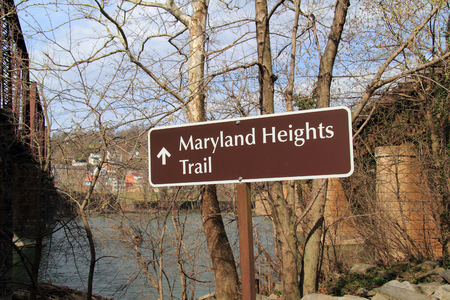 The strenuous but rewarding Maryland Heights Trail in Harpers Ferry National Historical Park offers the adventurous a spectacular view of the old town of Harpers Ferry in the state of West Virginia