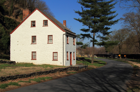 Shenandoah Street in Harpers Ferry National Historical Park, West Virginia, contains numerous historic structures that are representative of the old city's colorful colonial and antebellum past