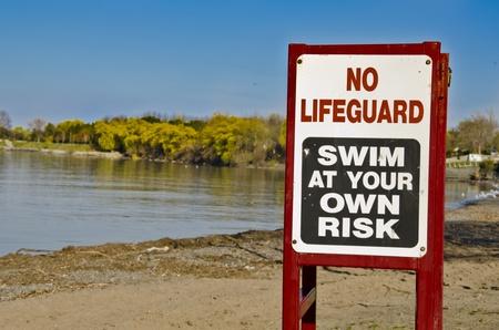 No Life Guard Archivio Fotografico