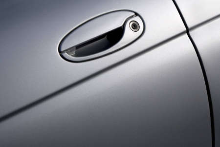 Close up of a silver car door handle. Stock Photo - 9117356