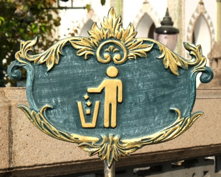 keep clean: Sign of Keep Clean and Litter bin