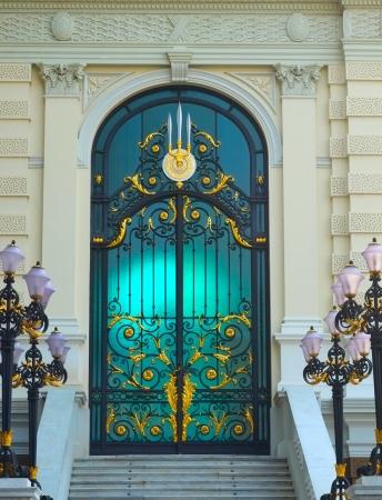 Door of grand palace, Wat Prakeaw, Thailand  photo