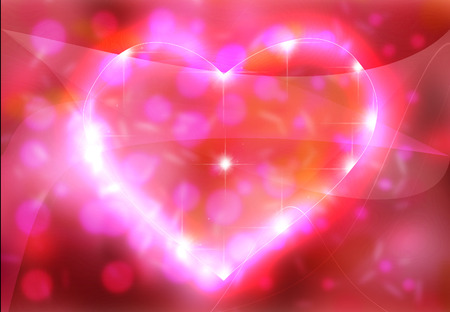 de focus: Beautiful heart of valentine on pink background
