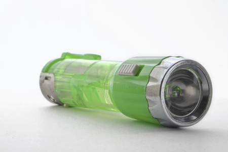 LED flashlight with lighters. photo