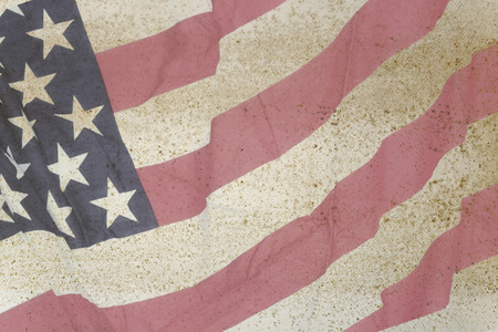 Old American Flag for Independence Day. photo